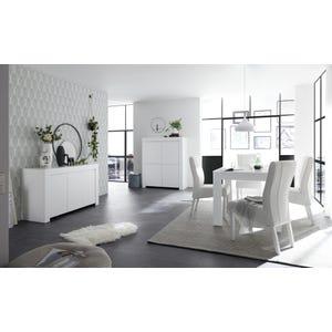 Soggiorno componibile Miami con tavolo - finitura bianco