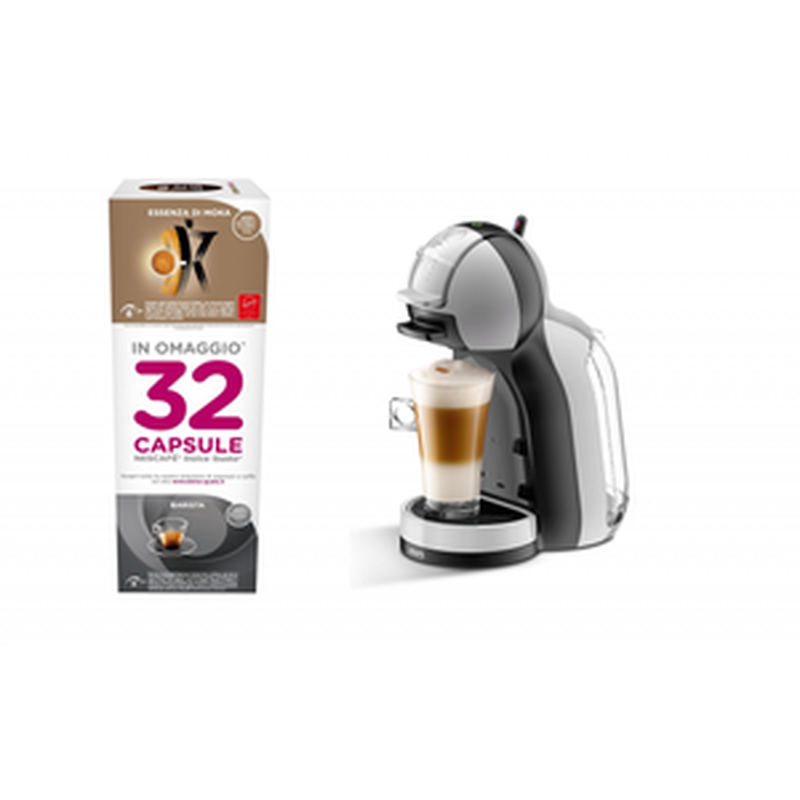 Macchina da caffè Mini Me Dolce Gusto con 32 capsule KP123BK